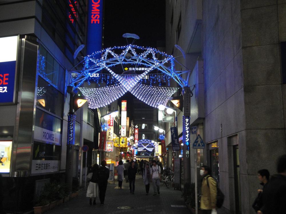 サンシャイン中央通り商店街 イルミネーション